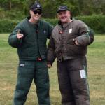 Jamie and Mason dressed in K9 training gear