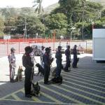Scott training handlers in PNG