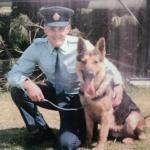 Scott in early days with his first K9 police dog