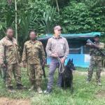 Scott with Papua New Guinea army K9 unit